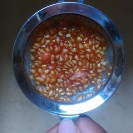 Bien égoutter les graines de tomates