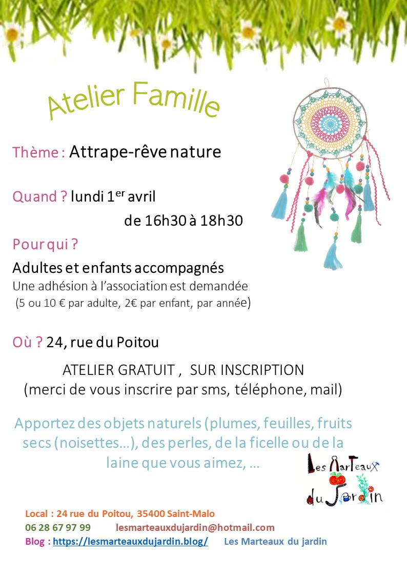 atelier attrape-rêve nature
