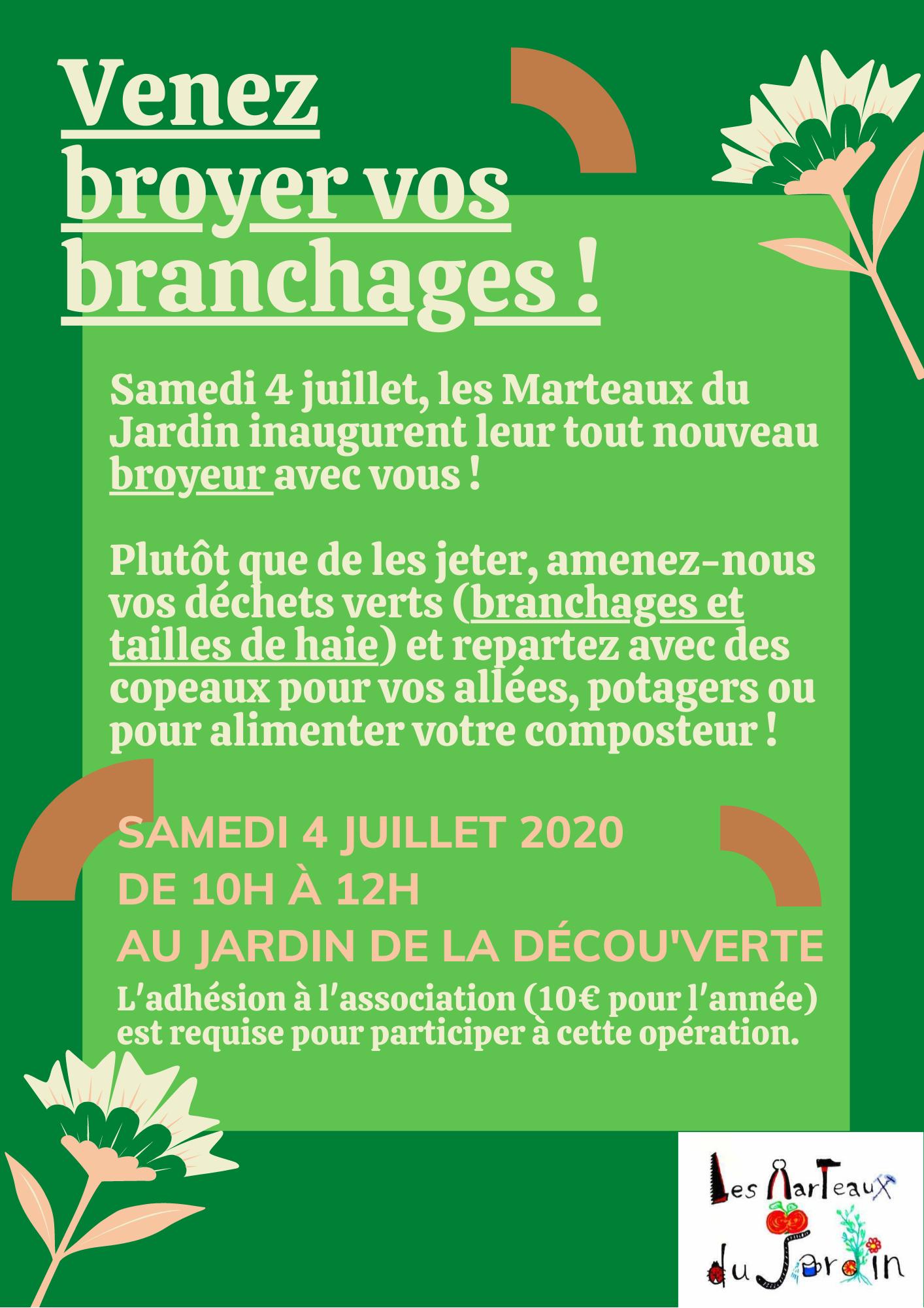 [La Déc'] Opération broyage 4 juillet 2020 par Les Marteaux du Jardin